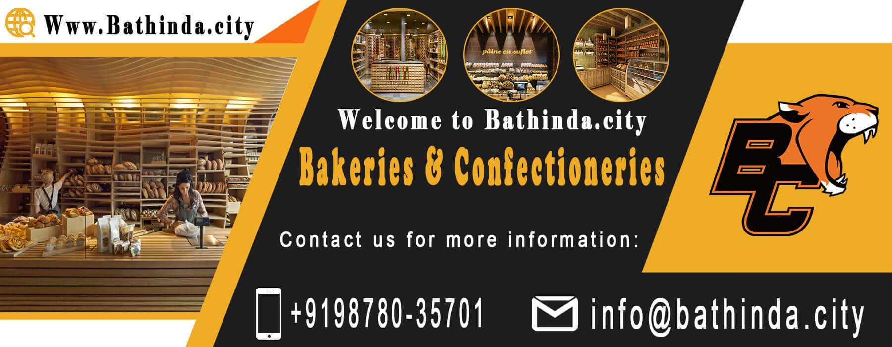 Bakeries and confectioneries in bathinda